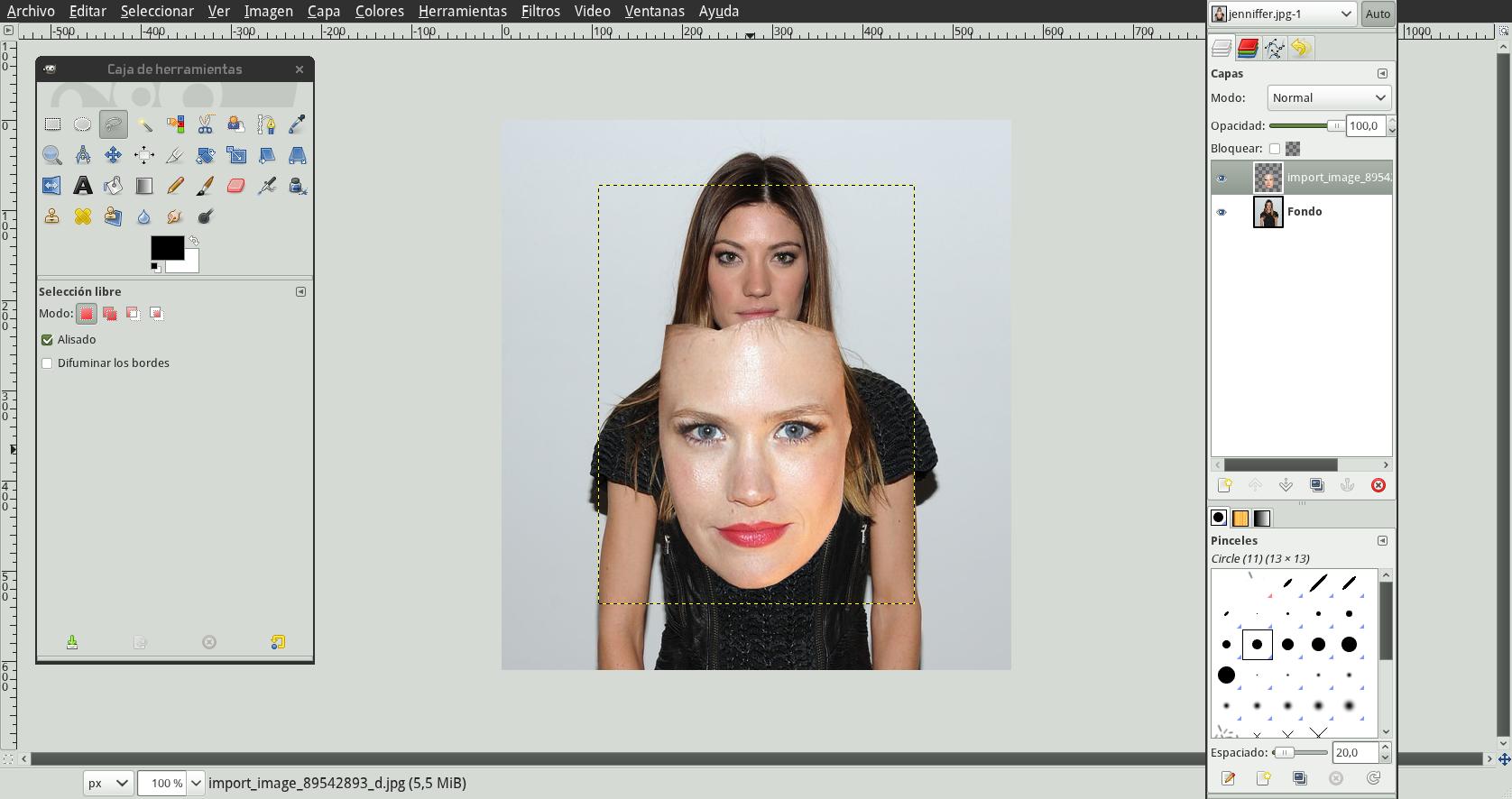 Cambiar caras de fotos