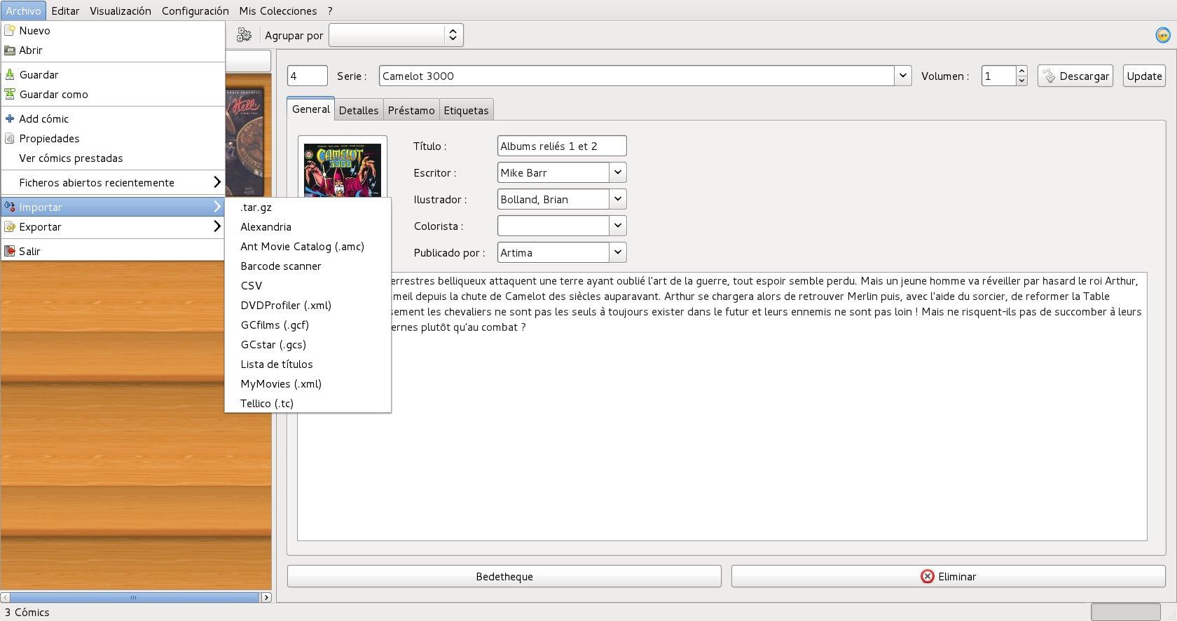 administra tus colecciones multimedia con gcstar � la