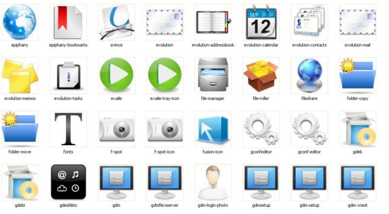 5 colecciones de iconos para gnome la mirada del replicante - Iconos para escritorio windows ...